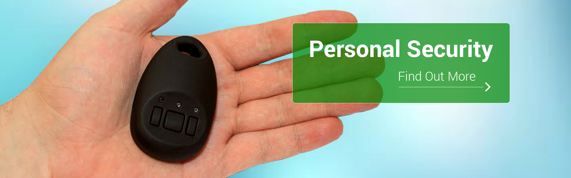 Personal security, open hand with panic device
