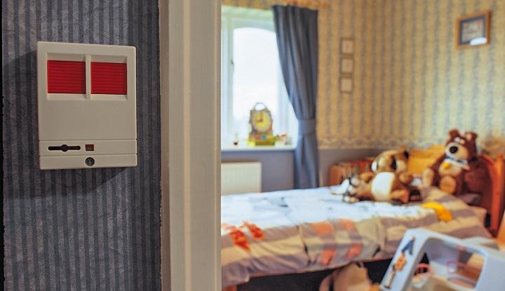panic button by child's bedroom door