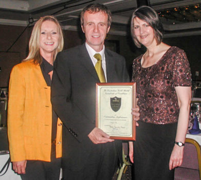 Blitz staff with Gold Shield Award