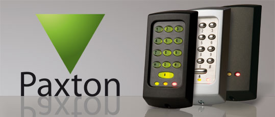 Paxton logo with proximity readers